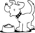 cane con ciotola da colorare..cane nel parco da colorare..cane sul prato della fattoria da colorare..cane terrier da colorare