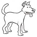 grande cane da colorare..cucciolo da colorare..cane levriero da colorare..cane sul fienile in fattoria per bambini da colorare