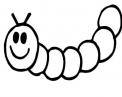 bruco o vermicello da colorare..dal bruco uscirà una farfalla da colorare..lombrico da colorare..larva di insetto da colorare..larve da colorare