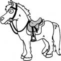 disegno cavallo da colorare..disegno cavallo con sella da colorare..cavallo pony da colorare..aveglinese cavallo da colorare in fattoria