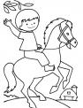 bambino sul cavallo da colorare..cavalli e bambini da colorare..cavallo della fattoria per bambini da colorare gratis