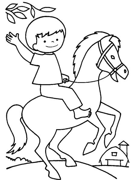Disegni Da Colorare Per Bambini Con Cavalli Fredrotgans