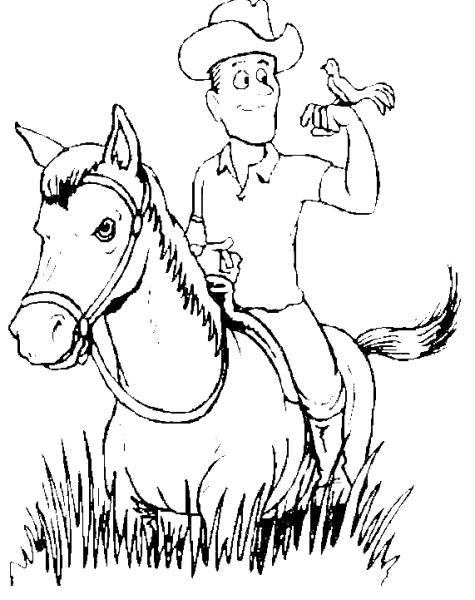 Cow boy sul cavallo da colorare cavaliere sul cavallo da - Cavaliere libro da colorare ...