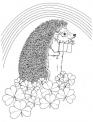 riccio in fattoria da colorare gratis..fattoria didattica con animali per bambini in provincia di milano..