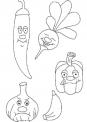 verdure e ortaggi dell'orto da colorare..fattoria didattica brindisi..fattoria didattica lecce