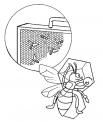 disegno ape nell'arnia con miele da colorare..ape regina con ape operaia da colorare..disegno fuco nell'alveare..fattoria didattica regione veneto