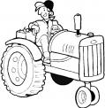 disegno trattore da colorare..trattore con attrezzi agricoli da colorare..fattoria didattica in provincia di bergamo