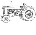 disegno trattore con aratro da colorare..trattore nel campo da colorare..fattoria didattica in provincia di brescia
