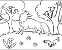 disegno lupo da colorare..lupo nel bosco da colorare..fattoria didattica in provincia di bologna