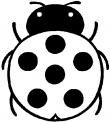 disegno di coccinella insetto da colorare..coccinella mangia afidi da colorare..fattoria didattica della regione campania