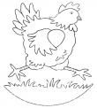 disegno gallina che corre nel pollaio da colorare..pollo da colorare..fattoria didattica della regione calabria