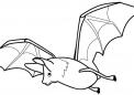 disegno di pipistrello da colorare...pipistrello mentre vola da colorare...fattoria didattica dell'emilia romagna