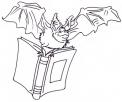 disegno pipistrello da colorare per bambini gratis