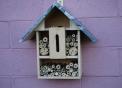 osmia,nido di osmia,casetta per osmie,bugs hotel,hotel per insetti,osmia mentre impollina..osmia o ape solitaria