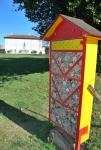 casetta per gli insetti nel parco della magana,casetta utile agli insetti api solitarie,osmia e bombo in casetta
