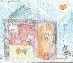 disegni fattoria didattica  bambini:Lisa Gambarotto,Cassano M.,anni 6.Disegni bambini della fattoria,fattorie didattiche della provincia di varese con tanti animali della fattoria,disegni della fattoria colorati dai bambini,foto animali della fattoria,dis