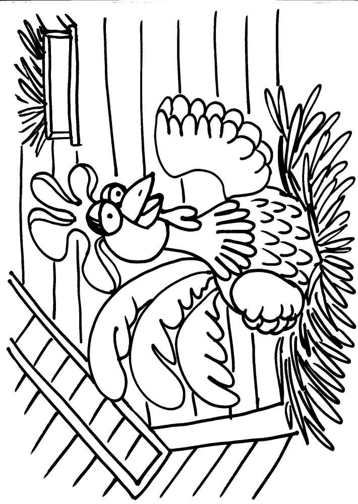 Disegni animali della fattoria da colorarepollaionel for Disegno della fattoria americana