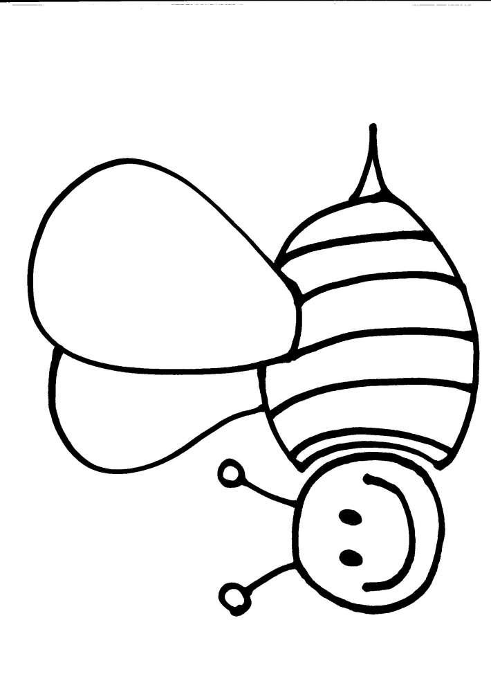 immagini da colorare. animali da colorare:ape
