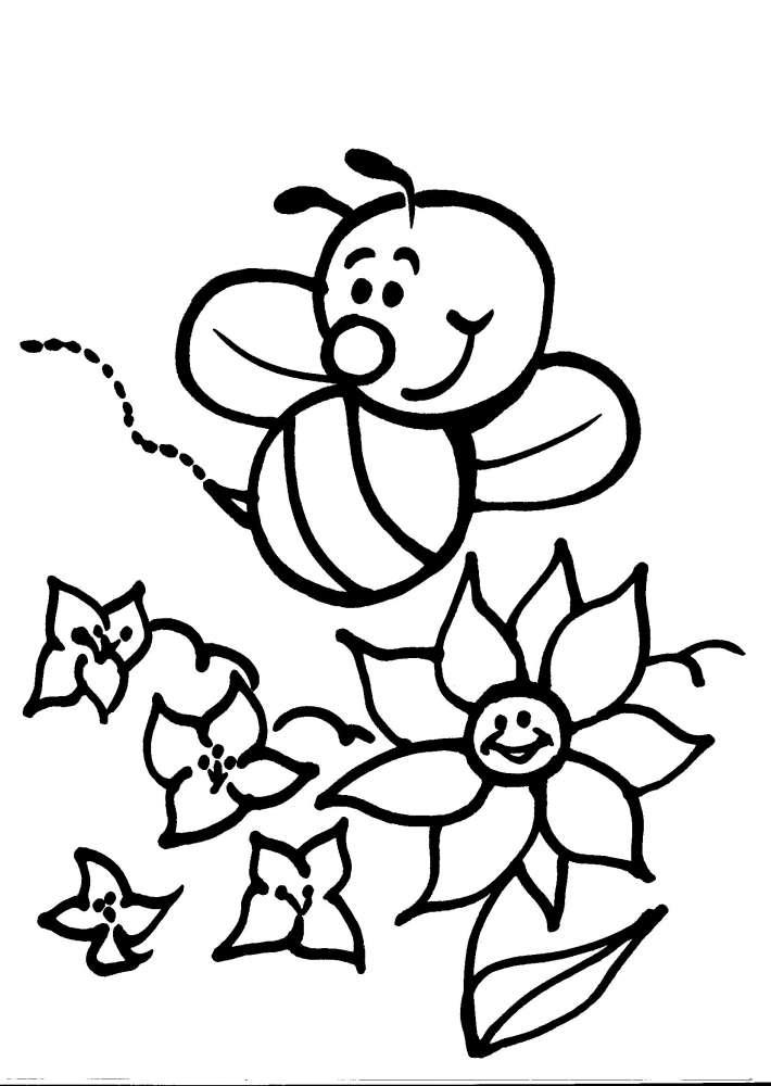 Disegno ape da colorare disegno vespa da colorare for Immagini api per bambini