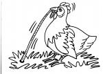 disegni animali da colorare:gallina,pulcino-disegno da colorare gallina in fattoria didattica..disegno gallo da colorare per bambini..disegno pollaio da colorare..uova di pasqua da colorare..pulcino da colorare