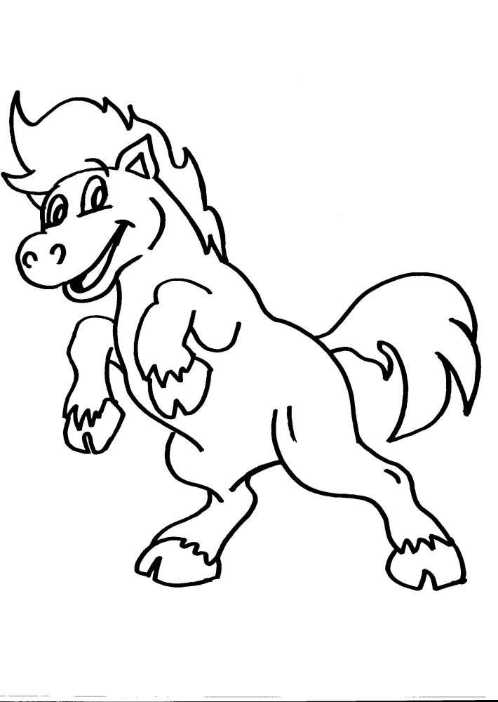 Disegno cavallo della fattoria da colorare cavallo puledro for Disegno cavallo per bambini