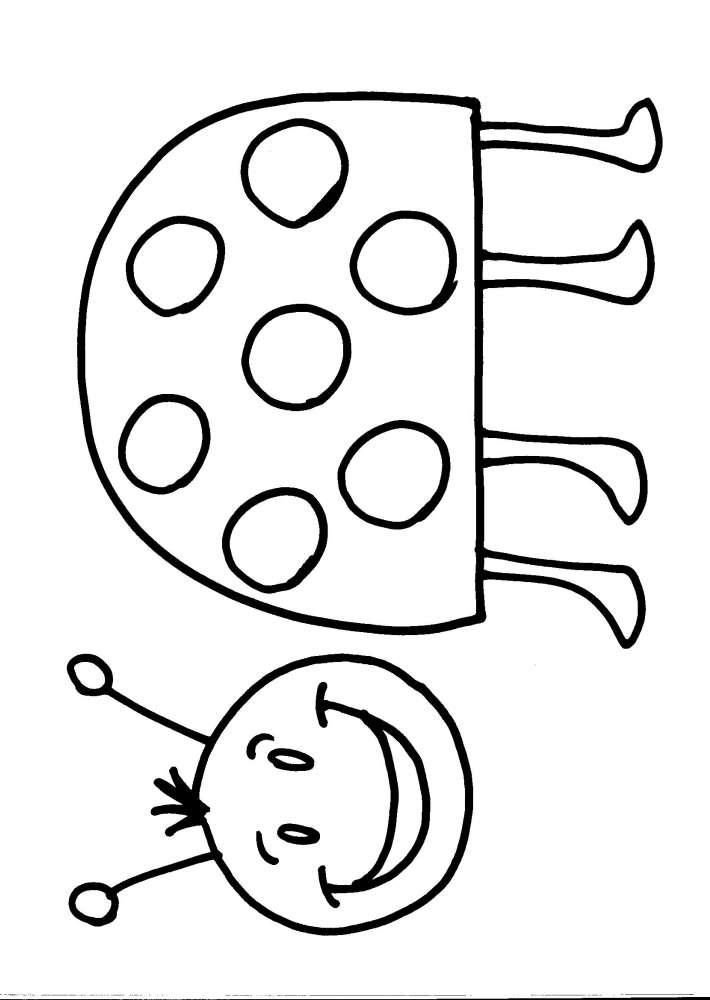 Disegno Coccinella Da Colorare Coccinella Disegno Da Colorare