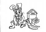 disegni animali della fattoria da colorare:coniglietta..disegno coniglioda colorare in fattoria didattica..coniglio da colorare...disegno coniglietto da colorare..disegno conigli con carote da colorare per bambini..