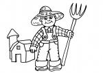disegni animali in fattoria da colorare:contadino,agricoltore..disegno contadino da colorare in fattoria didattica..disegno allevatore da colorare..disegno trattore da colorare per bambini