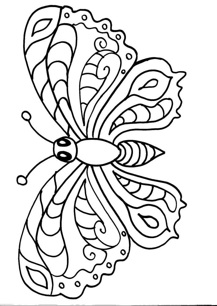 Disegni animali da colorare farfalla disegno farfalla da for Disegni da stampare e colorare di cani