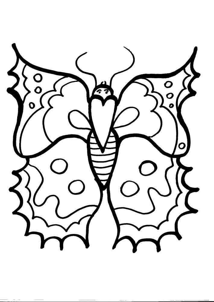Disegno farfalla da colorare disegno farfallina da colorare for Immagini di clown da colorare