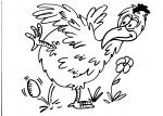 disegni animali in fattoria da colorare..gallina..disegno uova di gallina da colorare in fattoria didattica..disegno pollo da colorare nel pollaio..disegno gallina che fa l'uovo da colorare pulcino da colorare