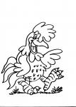 disegni da colorare della fattoria..galli,gallina.. disegno pulcino da colorare..galli..disegno gallo da colorare con cresta..disegno struzzo da colorare..pollaio con polli da colorare...struzzo uova da colorare