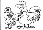 disegni animali nella fattoria da colorare..gallo,gallina..disegno gallina da colorare in fattoria didattica..disegno emu da colorare...uova di emu da colorare..uova di struzzo da colorare...gallo con gallina nel cortile della fattoria da colorare