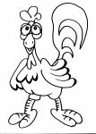 disegni animali fattoria da colorare..gallo-gallina..disegno di gallo da colorare..disegno tacchino da colorare..disegno struzzo da colorare..disegno pollo da colorare pulcino