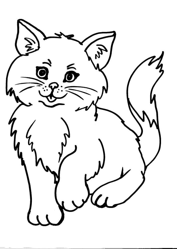 Estremamente disegno gatto da colorare,disegno micio da colorare,micetti da co QV41