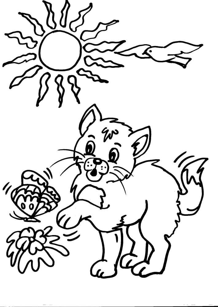 Conosciuto disegni per bambini da colorare..gatto-i gattini..disegno micio da  CB34