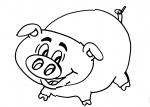 disegno maiale della fattoria da colorare..maiale..disegno da colorare di maialino..disegno da colorare di porcellini in una porcellaia..disegno da colorare di suino..disegno suinetto