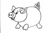 disegni animali della fattoria da colorare..maiale.. maialini..disegno maiale da colorare..disegno da colorare di porcello..disegno da colorare di scrofa con maialini..disegno verro..disegno suino