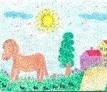 disegni bambini fattoria..disegno di Strobino Pierluigi ,San Macario.Disegni bambini della fattoria,fattorie didattiche della provincia di varese con tanti animali della fattoria,disegni colorati dai bambini di animali e mezzi agricoli della fattoria,foto