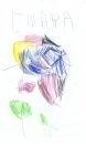 disegni animali in fattoria bambini:disegno di Chiara Nadin,anni 4,Busto Arsizio.Disegni bambini della fattoria,fattorie didattiche della provincia di varese con tanti animali della fattoria,disegni colorati dai bambini sul tema animali della fattoria.