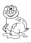 disegni animali della fattoria..maiale..maialino..disegno scrofa da colorare..disegno porcellini da colorare..disegno maialini in fattoria da colorare..disegno porco da colorare