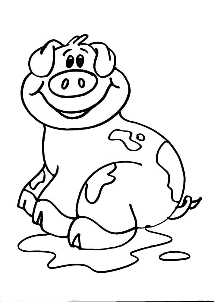 Disegni animali della fattoria da coloraredisegni per for Disegno della fattoria americana