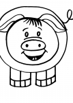 disegni da colorare animali in fattoria..maiale..disegno maialino..verro..disegno porcellino allegro da colorare..disegno maialino da colorare..disegno maiale onnivoro da colorare