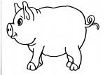 disegno porcellino della fattoria da colorare..maiale..disegno da colorare di porcellino..disegno porcello da colorare..disegno maiale della fattoria da colorare