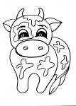 disegni animali della fattoria da colorare mucca..disegno mucca pezzata rossa da colorare..agriturismi di Varese, prodotti tipici varesini, distributore di latte ,disegno mucca jersey da colorare..