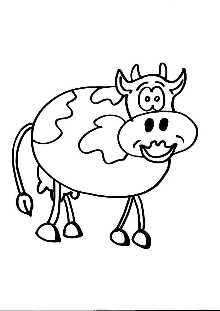 Disegno mucca della fattoria da colorare mucca disegno da for Disegno della fattoria americana