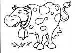 disegni animali della fattoria da colorare:mucca,la mucca disegno mucca da colorare..disegno mucca con campanaccio da colorare..campana..mandria di mucche da colorare