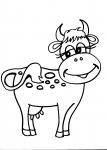 disegno vitellino della fattoria da colorare:mucca,disegno mucca da colorare..disegno vacca frisona da colorare..disegno agriturismo da colorare con mucche e tori..toro da colorare in fattoria