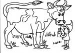 disegni animali in fattoria per bambini da colorare:mucca,la mucca..disegno mucca da colorare..disegno vacca da colorare..disegno vitello da colorare..mucca con vitello da colorare...disegno grosso toro da colorare
