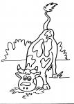 disegni animali in fattoria per bambini da colorare:mucca..la mucca..disegno bovino da colorare..disegno bufale in fattoria da colorare..disegno annutolo da colorare...disegno bufala mediterranea da colorare